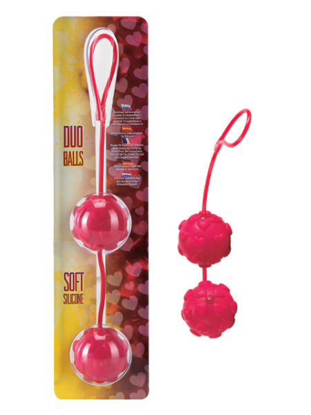 06-092RD-bcd  Duo Balls Soft Silicone