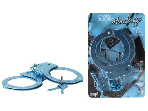 PG-05-239LBLU-bcd Crystal Studded HandCuffs